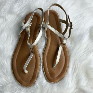 Sperry white sandals